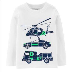 Carter's rescue vehicles t-shirt size 14